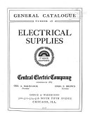 General Catalogue Of Electrical Supplies Book PDF