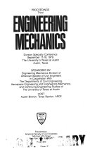 Proceedings, Third Engineering Mechanics Division Specialty Conference, September 17-19, 1979, the University of Texas at Austin, Austin, Texas