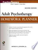 """Adult Psychotherapy Homework Planner"" by Arthur E. Jongsma, Jr."