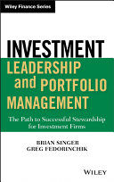 Investment Leadership and Portfolio Management Pdf/ePub eBook