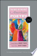 """""""The Best of the Best American Poetry: 1988-1997"""" by David Lehman, Harold Bloom"""