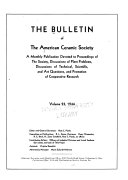 The Bulletin of the American Ceramic Society