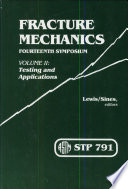 Fracture Mechanics  Fourteenth Symposium   STP 791 Book