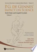 P G  De Gennes  Impact on Science        Volume I