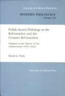Pdf Polish Sacred Philology in the Reformation and the Counter-Reformation