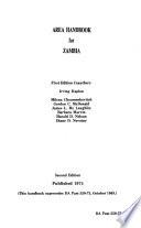 Area Handbook for Zambia