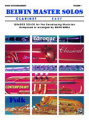 Belwin Master Solos (Clarinet), Vol 1: Easy Piano Acc.