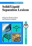 Solid Liquid Separation Lexicon Book PDF