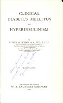 Clinical Diabetes Mellitus and Hyperinsulinism