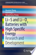 Li S and Li O2 Batteries with High Specific Energy