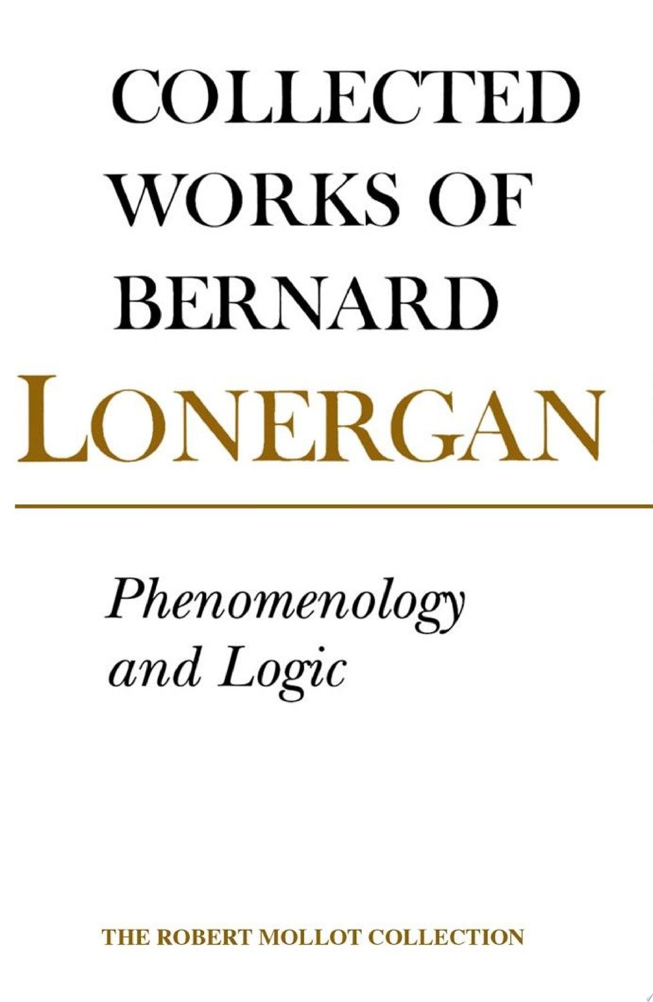 Phenomenology and Logic