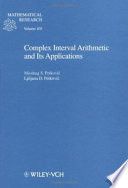 Complex Interval Arithmetic And Its Applications Book PDF