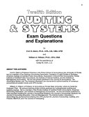 Auditing   Systems Exam Questions And Explanations Book