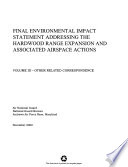 Hardwood Range Expansion and Associated Airspace Actions