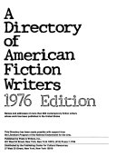 A Directory of American Fiction Writers
