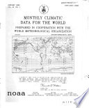 Monthly Climatic Data for World by Continents