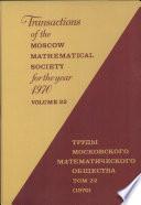 Tran Moscow Math Soc, Vol 22-1970