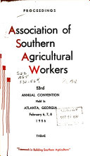 Proceedings of the     Annual Convention of the Association of Southern Agricultural Workers