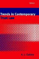 Pdf Trends in Contemporary Trust Law