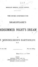 The Music Composed for Shakespeare s Midsummer Night s Dream