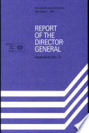 Ilc 78 App Report Of The Director General Appendices Vol 2