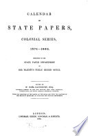 Calendar Of State Papers Colonial Series America West Indies 1574 1660
