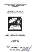 International Symposium Digest, Antennas and Propagation