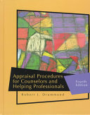 Appraisal Procedures for Counselors and Helping Professionals Book