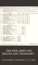 The new army list  by H G  Hart  afterw   Hart s army list   Quarterly