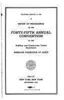 Report Of Proceedings Of The Annual Convention Of The Building And Construction Trades Department American Federation Of Labor