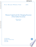 Human Caiptal and the Changing Structure of the Indian Economy