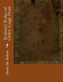 Robert S Rules Of Order Large Print Book PDF