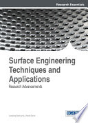 Surface Engineering Techniques And Applications Research Advancements Book PDF