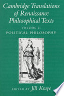 Cambridge Translations Of Renaissance Philosophical Texts