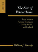 Pdf The Site of Petrarchism Telecharger