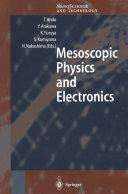 Mesoscopic Physics and Electronics Pdf/ePub eBook