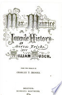 Max and Maurice, a juvenile history in seven tricks, Max und Moritz English