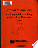 Net Energy Analysis