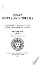 Sussex Notes And Queries