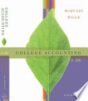 College Accounting, Chapters 1-26