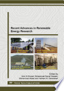 Recent Advances in Renewable Energy Research Book