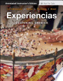 """Experiencias, Annotated Instructor's Edition: Intermediate Spanish"" by Diane Ceo-DiFrancesco"