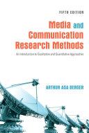Media and Communication Research Methods [Pdf/ePub] eBook