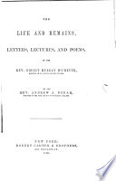 The Life and Remains, Letters, Lectures, and Poems, of the Rev. Robert Murray McCheyne