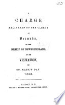 A charge delivered to the clergy of Bermuda ... 1853