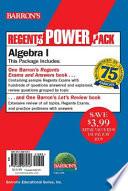 Algebra I Power Pack
