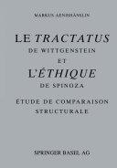 Pdf Le Tractatus de Wittgenstein et l' Éthique de Spinoza Telecharger