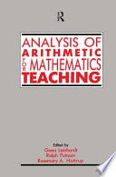 Analysis Of Arithmetic For Mathematics Teaching