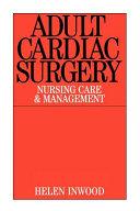 Adult cardiac surgery