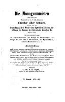 Die Monogrammisten: und diejenigen bekannten und unbekannten ...